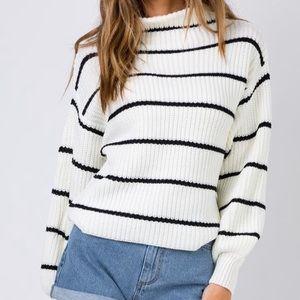 Princess Polly cream knit sweater